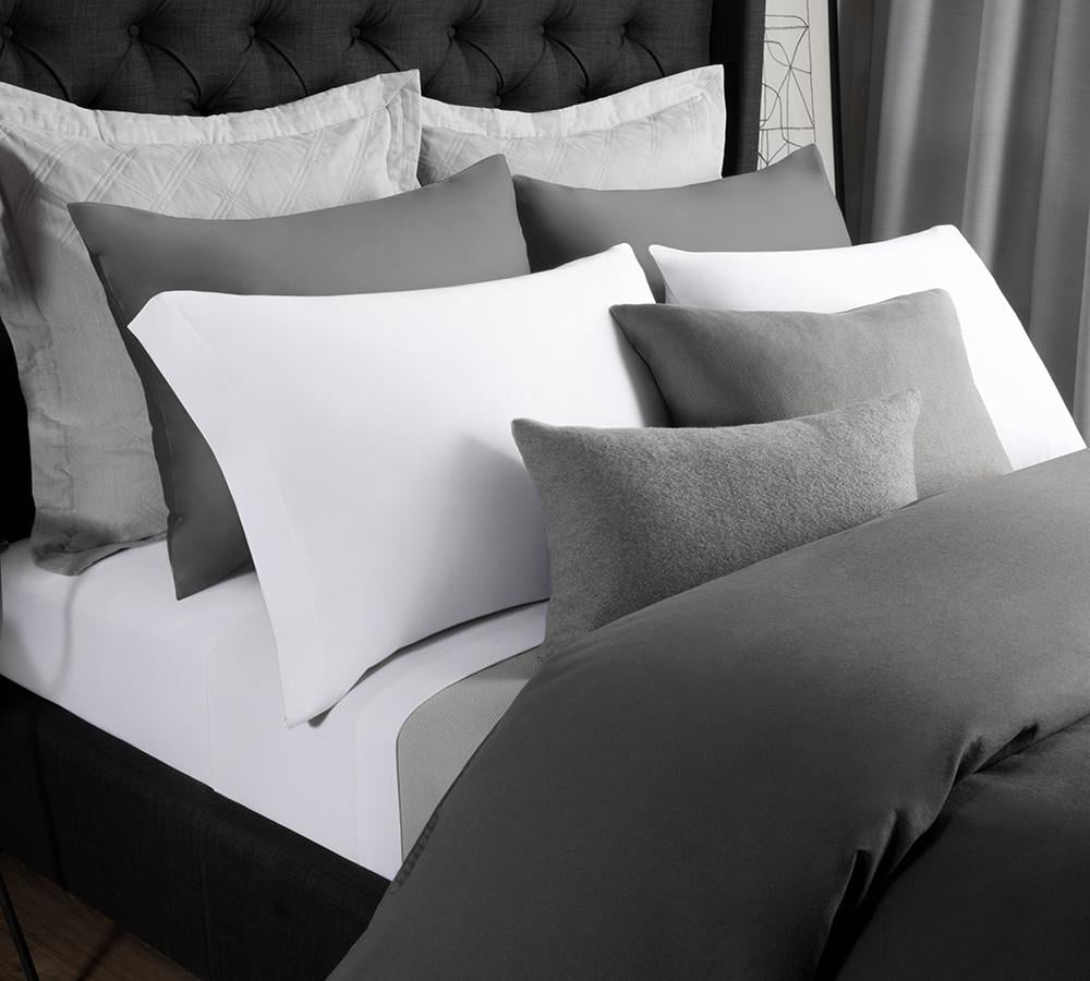 Genial Solid Modal Jersey Sheet Set In White   Modal Sheet Sets Online , Colored  Modal Sheet ...