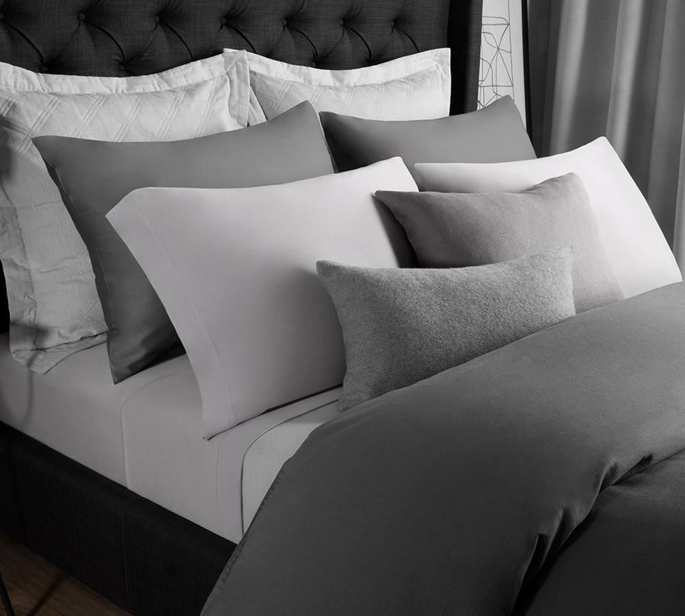 Bed sheet set black and white - Solid Modal Jersey Sheet Set In Ash Grey Modal Sheet Sets Online Colored Modal