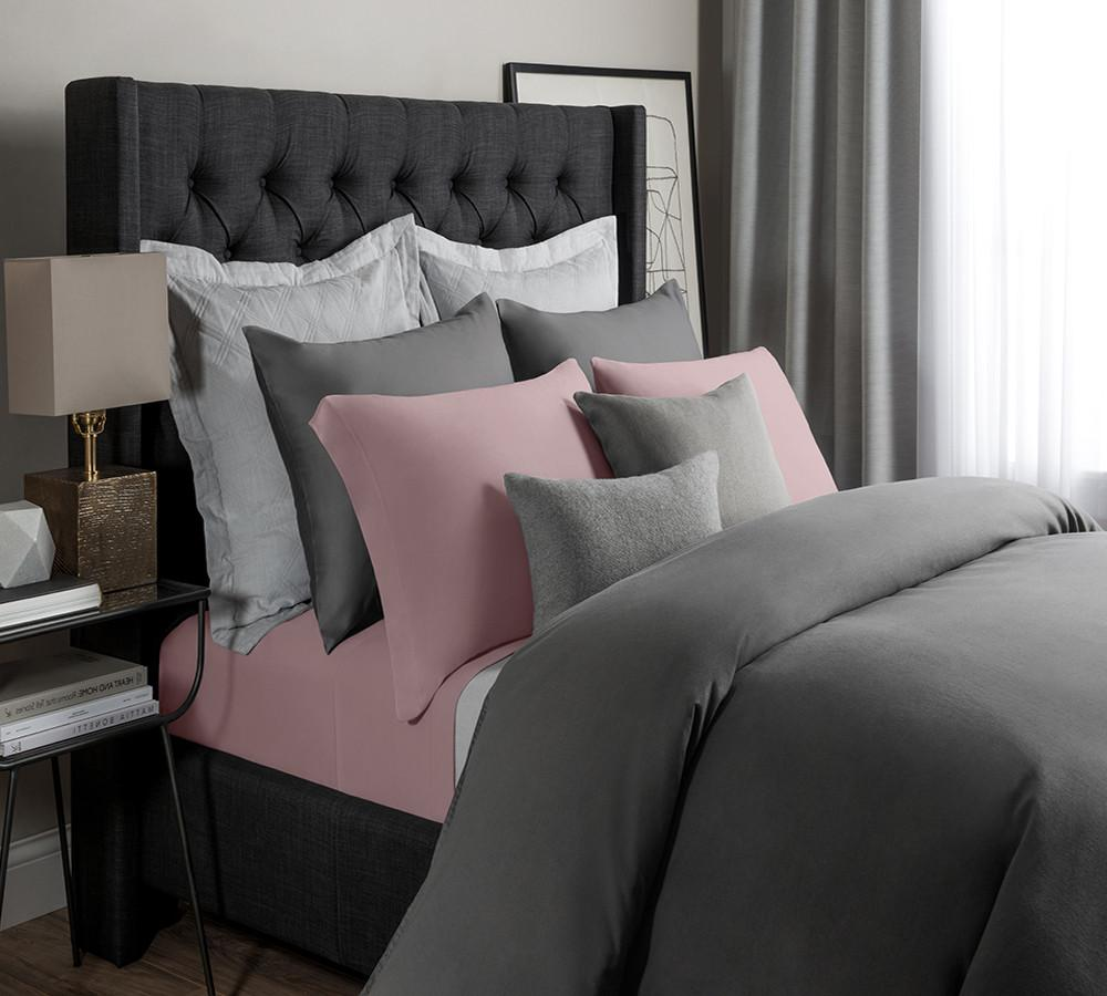 Solid Modal Jersey Sheet Set In Rose