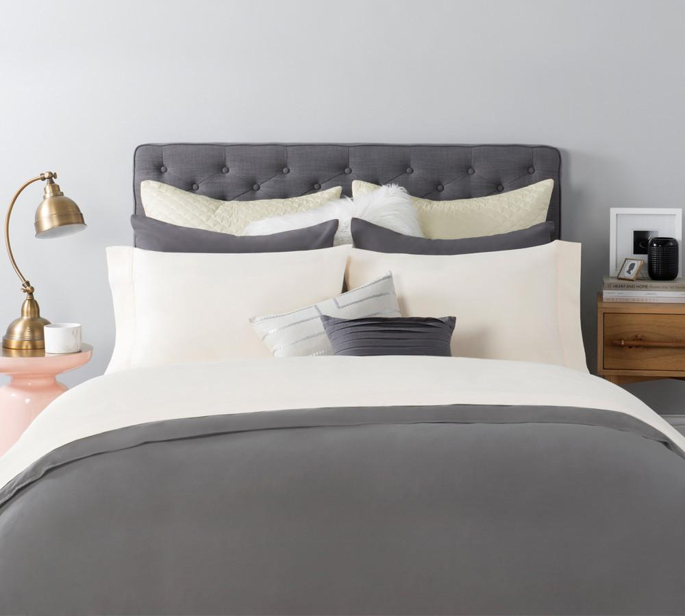 White cotton bed sheets - Solid Sateen Sheet Set In Antique White Cotton Sateen Sheets Sateen Sheet Sets Online