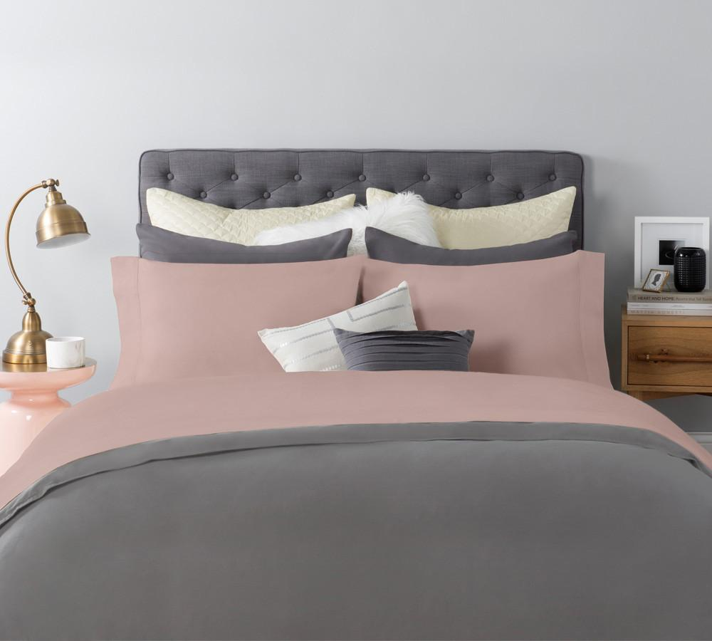 ... Solid Sateen Sheet Set In Peach   Cotton Sateen Sheets, Sateen Sheet  Sets Online, ...