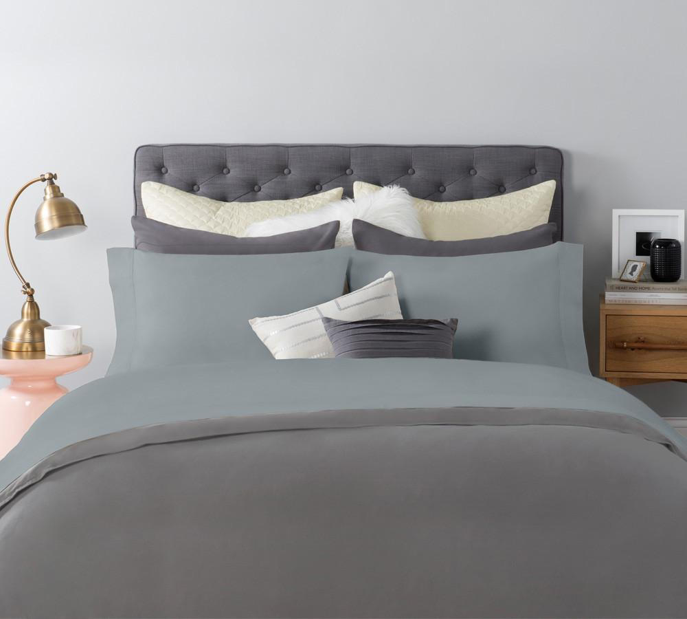 ... Solid Sateen Sheet Set In Blue   Cotton Sateen Sheets, Sateen Sheet Sets  Online, ...