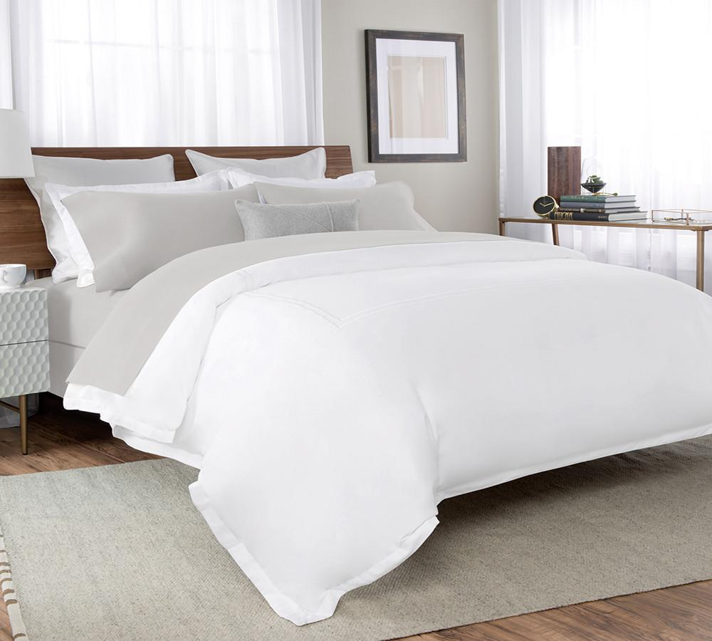 High Quality Percale Sheet Set In Grey Deep Pockets Fitted Sheet