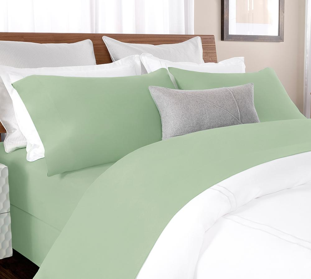 Solid Percale Sheet Set In Spruce Green   Percale Sheet Set Online, Best  Percale Sheet ...