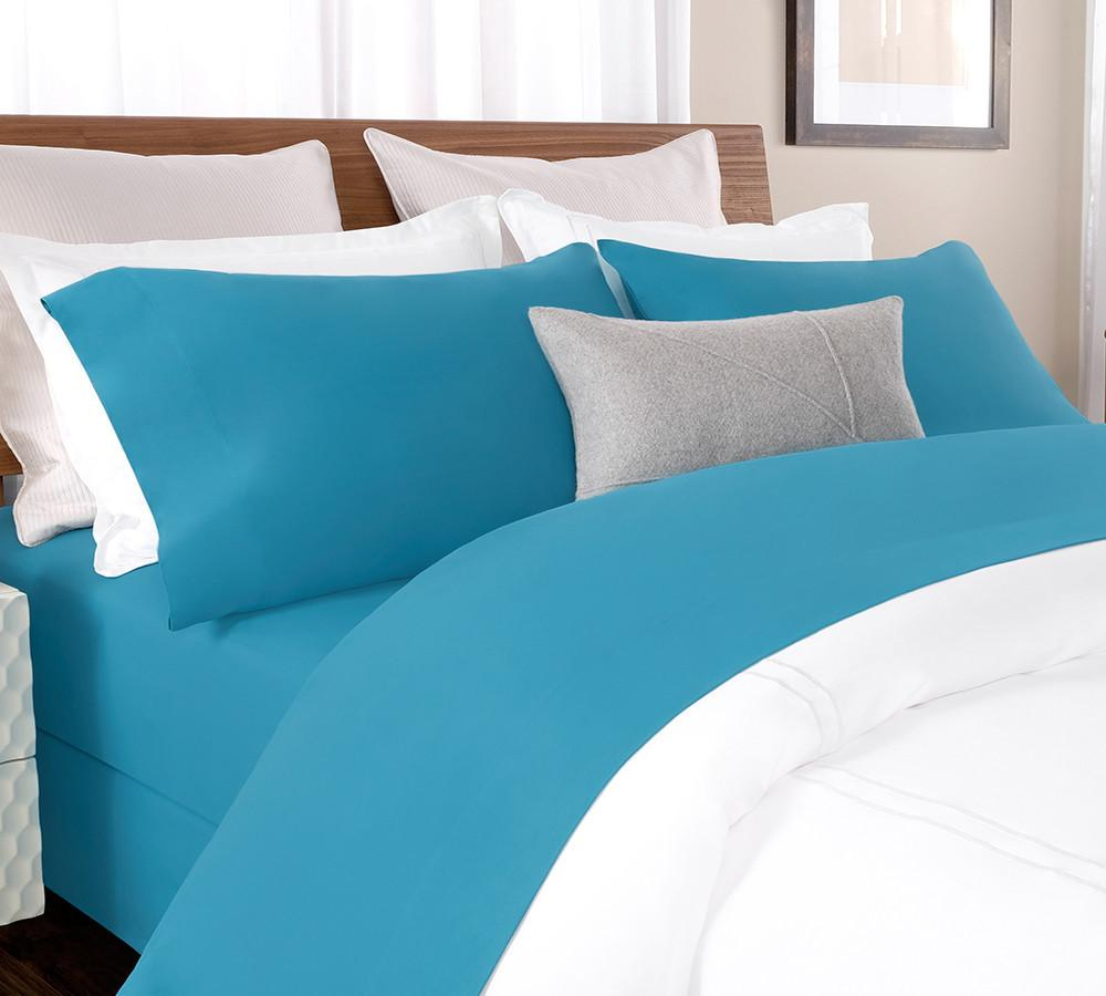 Solid Percale Sheet Set In Blue Online Best Sets