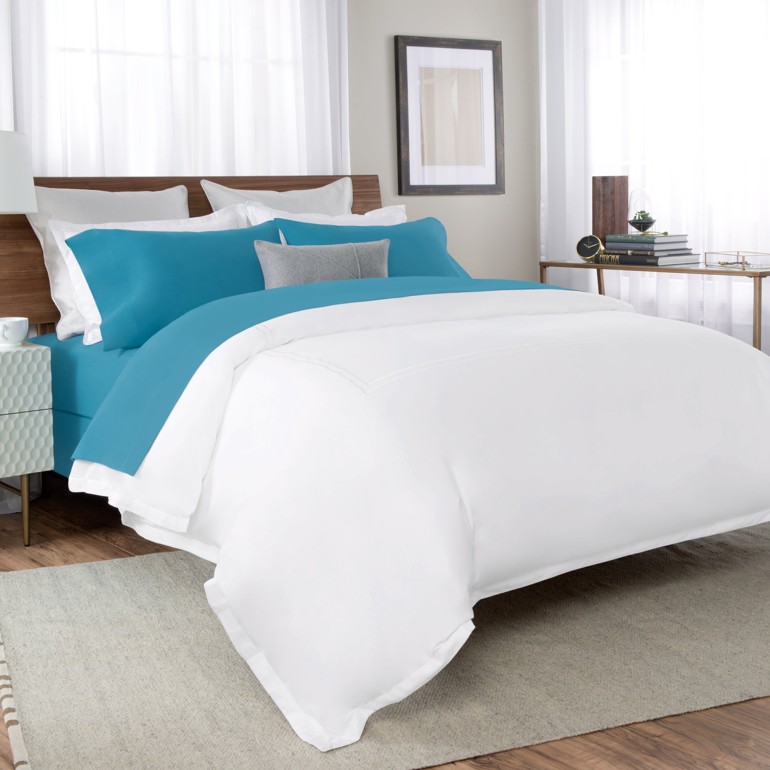 Say Goodbye To Sweaty Sleeps, Crisp U0026 Cool Percale Bed Sheet, Comfy To The  Touch, Fitted Percale Sheet Set
