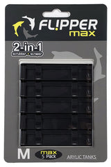 Flipper MAX ABS Replacement Blades Straight Edge 5-Pack - Acrylic Tanks