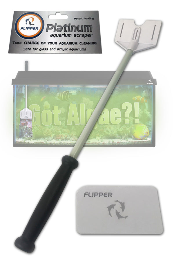 Fl!pper Platinum Aquarium Hand Scraper for Glass and Acrylic Tanks - 18""