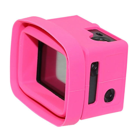 Big Balance MS5 GoPro Shade for Naked GoPro Hero 4 Black / 3+ / 3 GoPro Shade with LCD BacPac (Pink)