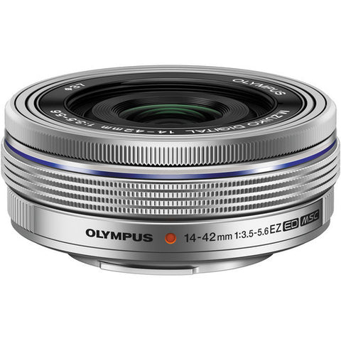 Olympus M.Zuiko Digital ED 14-42mm 1:3.5-5.6 EZ Silver Lens (White Box)