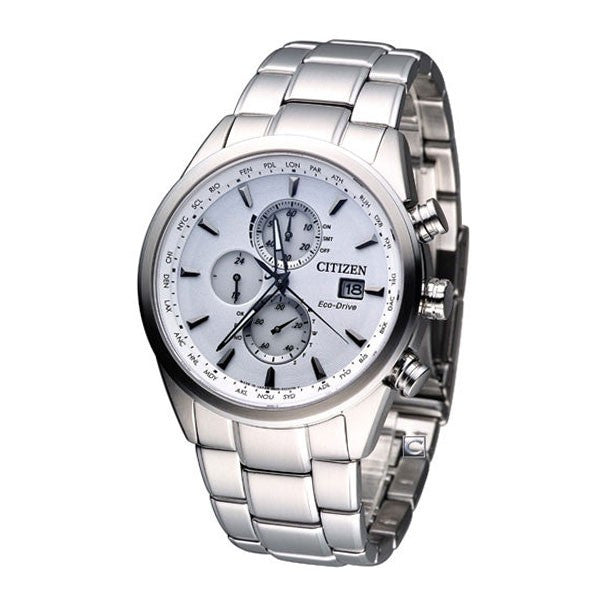 Citizen Eco-Drive Perpetual Radio Chronograph AT8015-54A Watch (New with Tags)