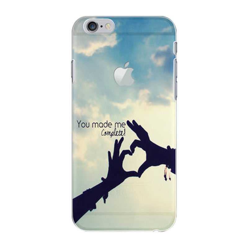 Hard Transparent Case 4.7 inch for iPhone 6/6S (Hold Hands)