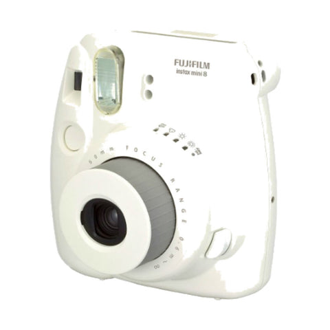 Fuji Film Instax Mini 8 White Instant Camera with Instax Mini (Inside Out) Photo Paper