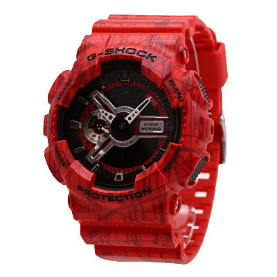 Casio G-Shock Slash Pattern GA-110SL-4A Watch (New with Tags)