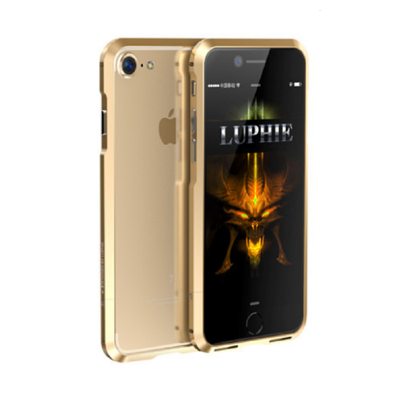 Shell Metal Frame Case for iPhone 7 Plus (Champagne Gold)