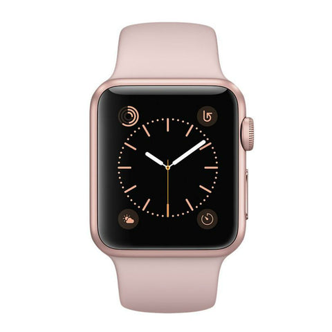 Apple Watch 38mm Rose Gold Aluminum Case Pink Sand Sport Band MNNH2 (Pink)