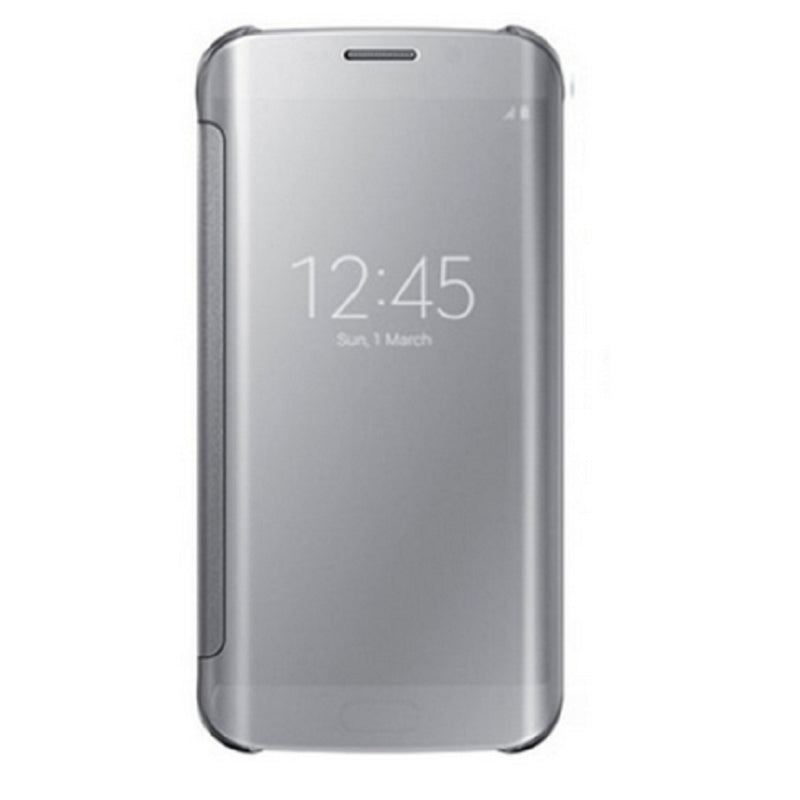 Smart Cover Phone Shell with Clip for Samsung S7 Edge (Haoyue Silver)