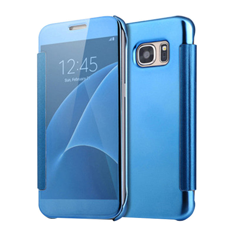 Smart Cover Phone Shell with Clip for Samsung S7 (Ice Jade Blue)
