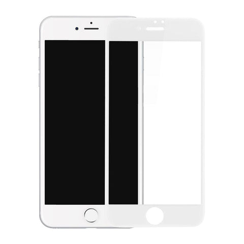 Steel Membrane Soft Edges Blu-ray Full-screen 3D Covering Film for Iphone 7 (White)
