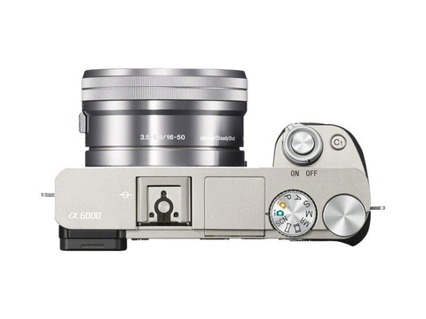 Sony Alpha A6000 ILCE-6000L with 16-50mm Lens Silver Mirrorless Digital Camera