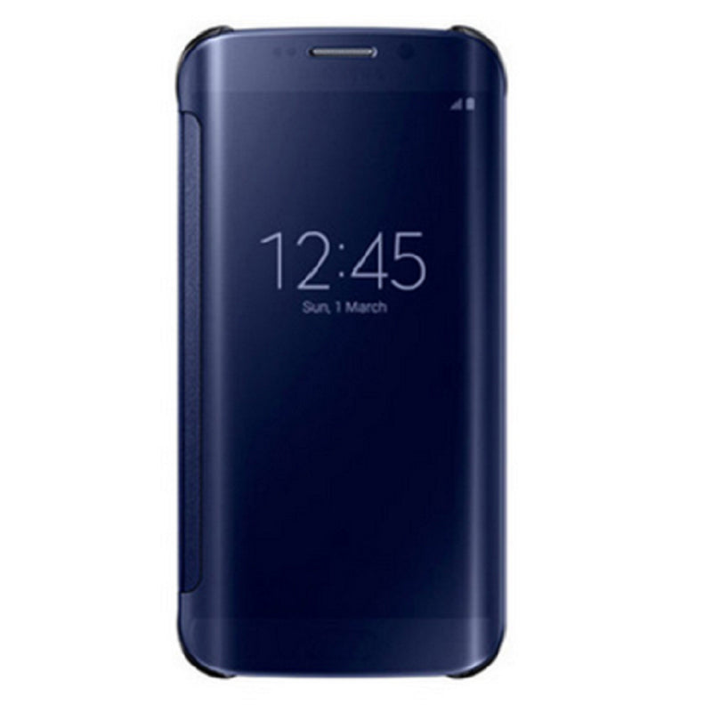 Smart Cover Phone Shell with Clip for Samsung S7 Edge (Dark Blue)