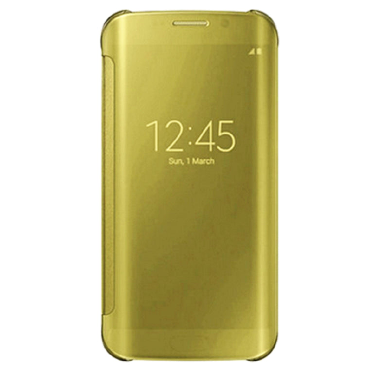 Smart Cover Phone Shell with Clip for Samsung S7 Edge (Light Platinum Gold)