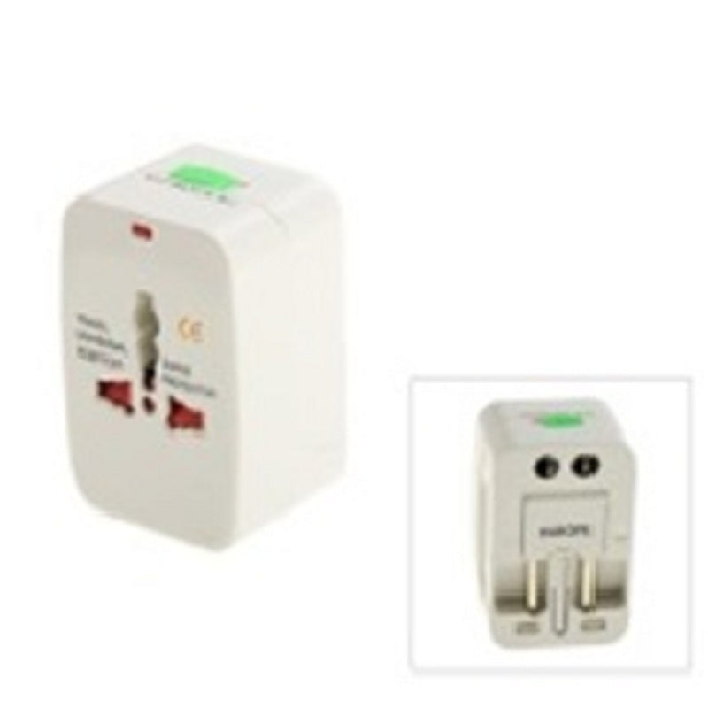 Universal Travel Power Plug Adapter White