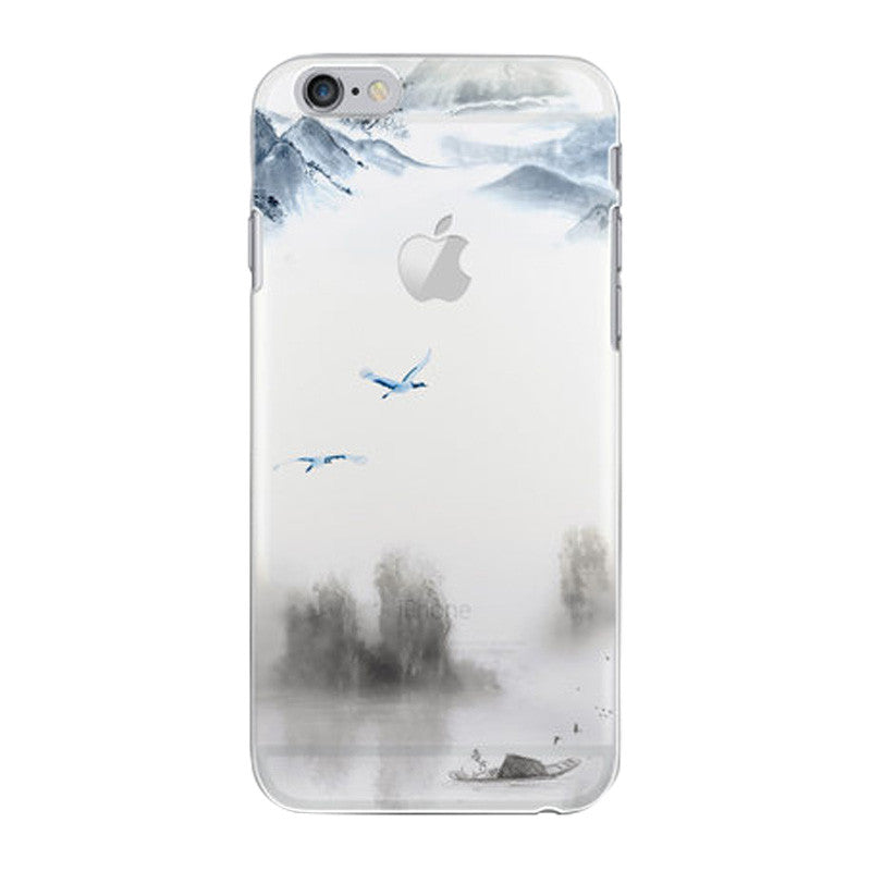 Hard Transparent Case 4.7 inch for iPhone 6/6S (Egami Fishing Alone)