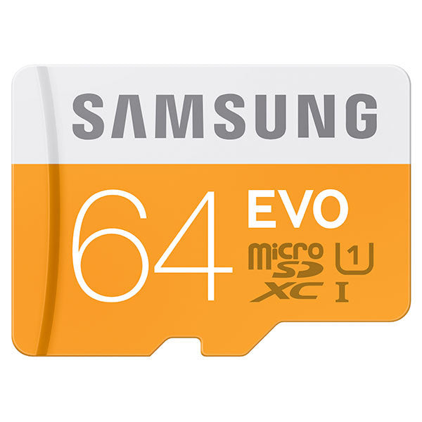Samsung T-Flash Evo 64GB MicroSDHC Class 10 (MB-MP64DA/EU) Memory Card with Adapter