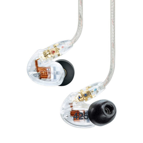 Shure SE425 Sound Isolating Earphones Clear