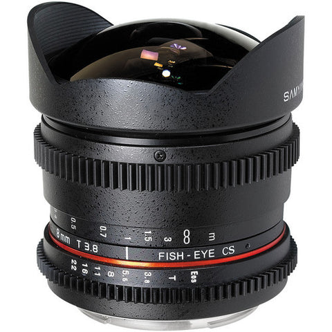 Samyang 8mm T3.8 Asph IF MC Fisheye CS VDSLR (Nik) Lens