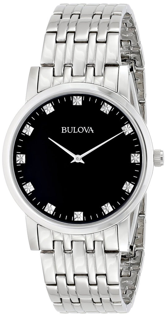Bulova Diamond Thin Series 96D106 Watch (New with Tags)