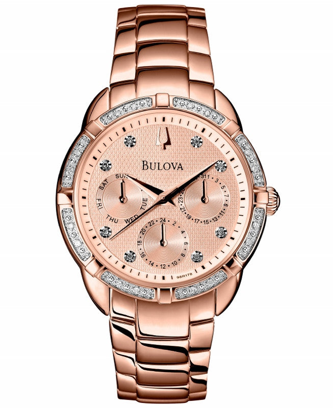 Bulova Diamond Gallery Analog 98R178 Watch (New with Tags)