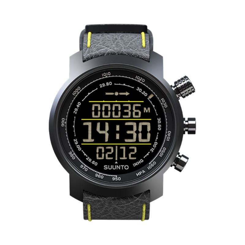 Suunto Elementum Terra SS019997000 Sports Watch Black/Yellow Leather