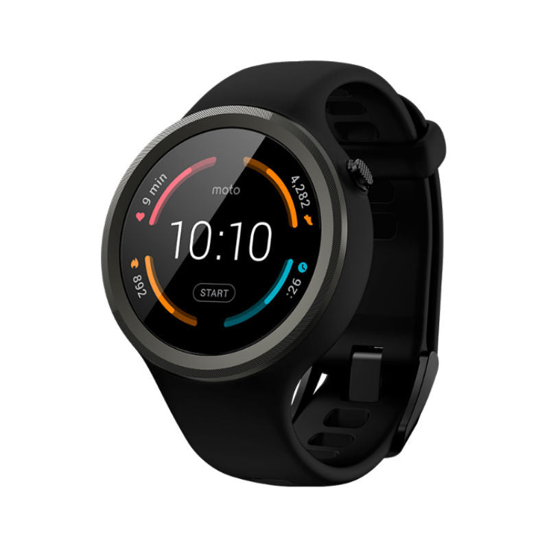 Motorola Moto 360 Sport 45mm Silicon Smart Watch (Black)