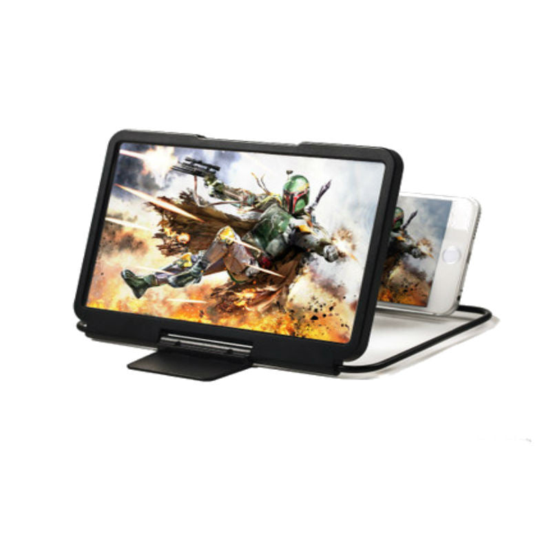 Pocket Mobile 3D Cinema Screen Magnifier Holder (Black)