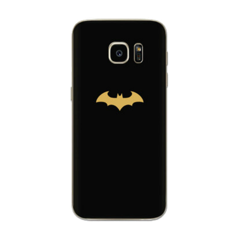 Mobile Phone Case with Batman Sticker for Samsung S7 Edge (Black)