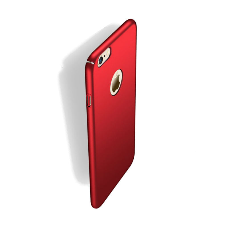 Hard Shell Drop Resistance Case for iPhone 6 (Red Wine)