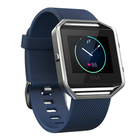 Fitbit Blaze FB502SBUS Classic Wristband Fitness Smart Watch Small (Blue)