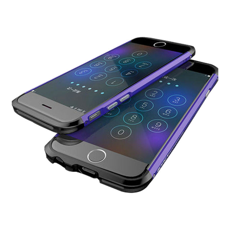 Shell Metal Frame Case 4.7 inch for iPhone 6/6s (Purple Black)