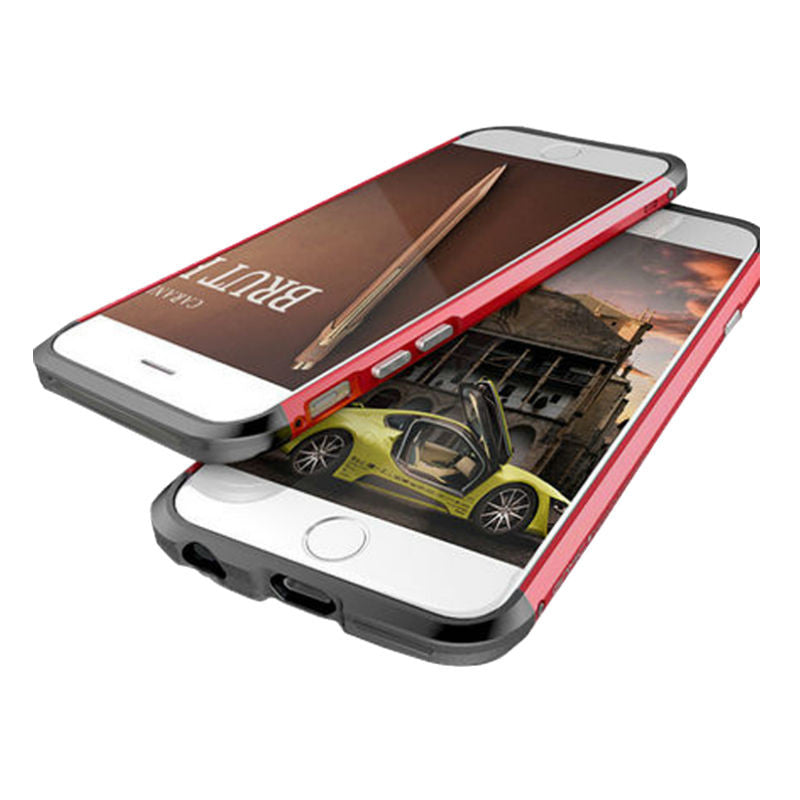 Shell Metal Frame Case 4.7 inch for iPhone 6/6s (Red Black)