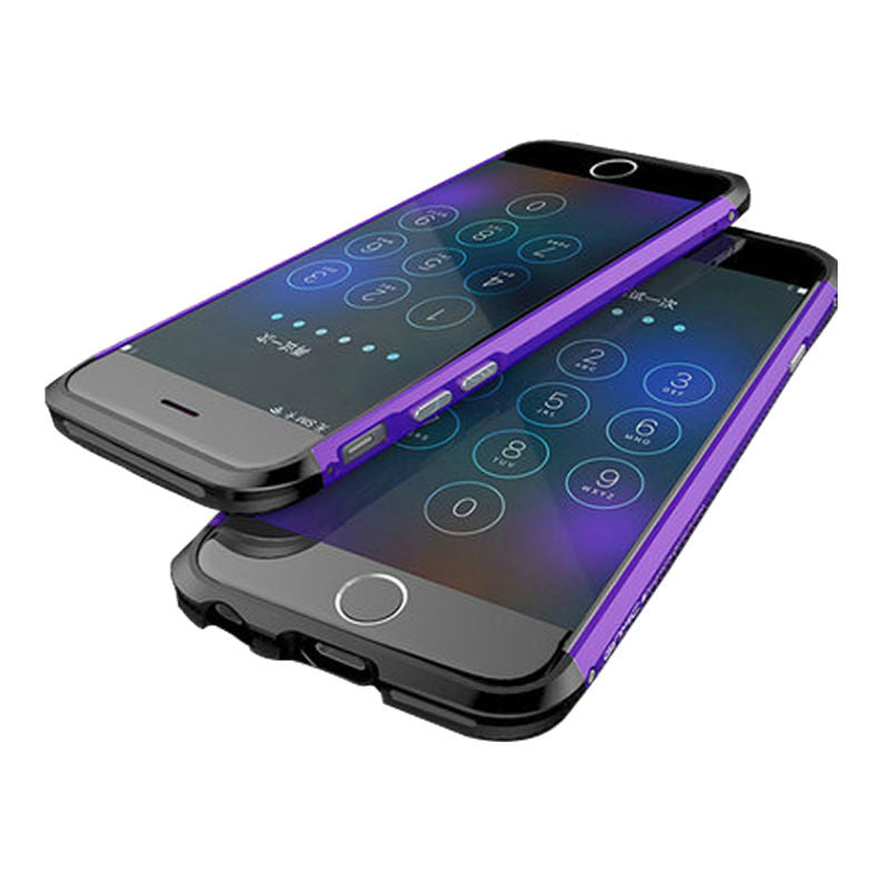 Shell Metal Frame Case 5.5 inch for iPhone 6 Plus/6s Plus (Purple Black)