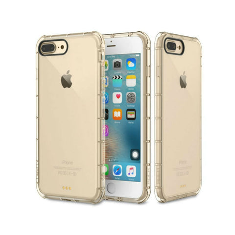Silicone Crystal Shield Case 5.5 inch for iPhone 7/7s (Gold)