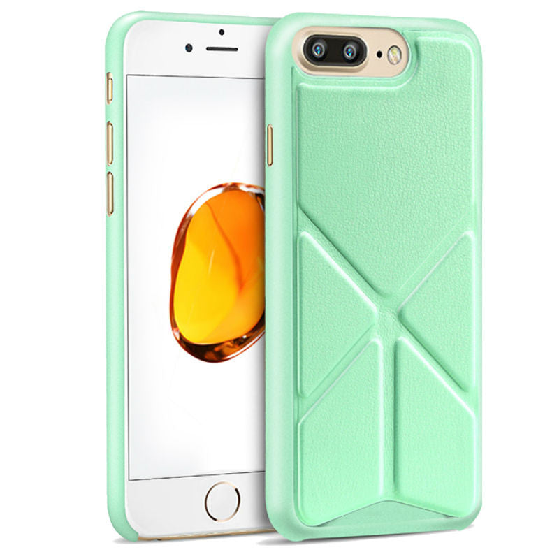Protective Sleeve 5.5 inch Phone Shell with Stand for iPhone 7 Plus (Green)