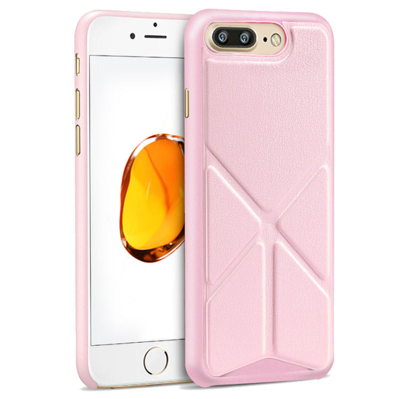 Protective Sleeve 5.5 inch Phone Shell with Stand for iPhone 7 Plus (Pink)