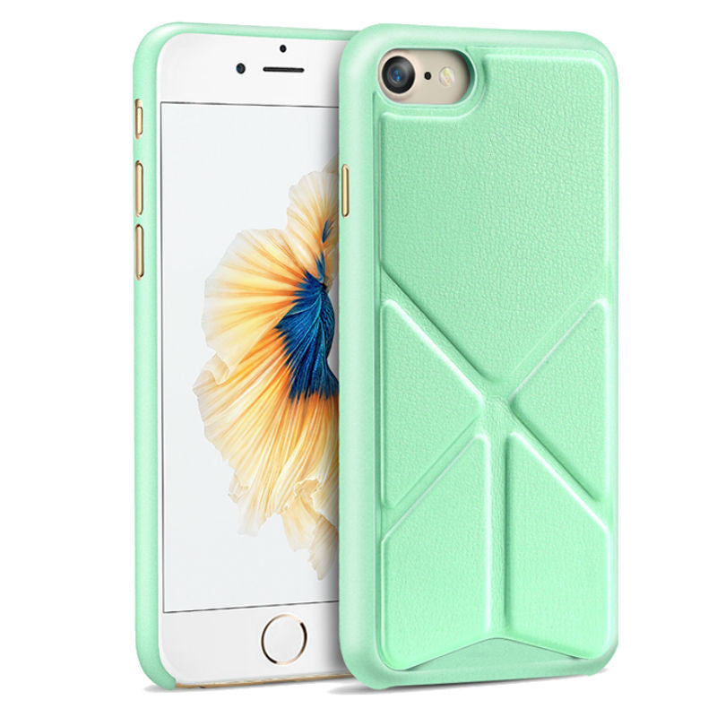 Protective Sleeve 4.7 inch Phone Shell with Stand for iPhone 7 (Green)