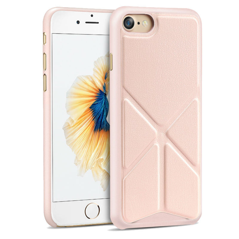 Protective Sleeve 4.7 inch Phone Shell with Stand for iPhone 7 (Rose Gold)