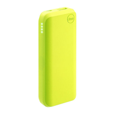 Amuse Deux 6000 mAh Polymer Power Bank (Neon Lime)