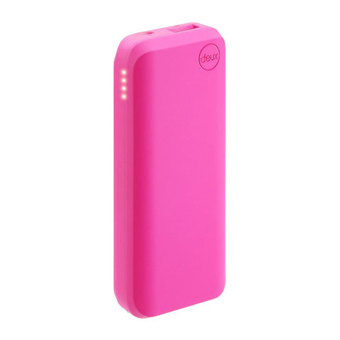 Amuse Deux 6000 mAh Polymer Power Bank (Shocking Pink)