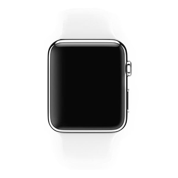 Apple Watch 42mm Stainless Steel Case Sport Band MJ3V2 (White)